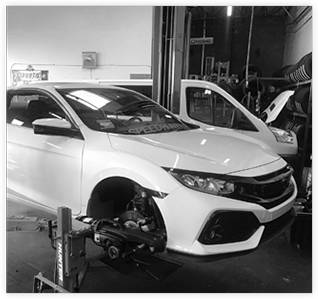 Car Being Serviced at Tire & Brake Pros